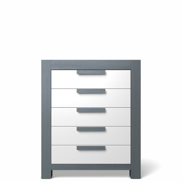 Romina Ventianni Collection Five Drawer Chest in Washed Grey