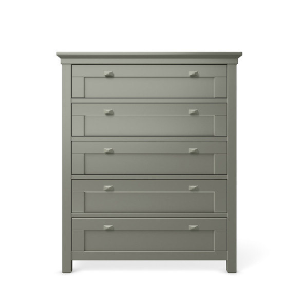Romina Karisma Collection Five Drawer Chest in Vintage Grey
