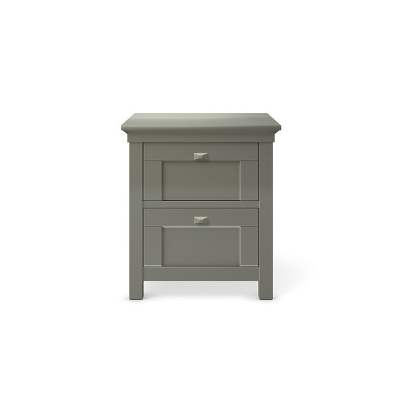 Romina Karisma Collection Two Drawers Nightstand in Vintage Grey