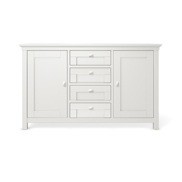 Romina Karisma Collection 4 Drawer Baby Station in Solid White