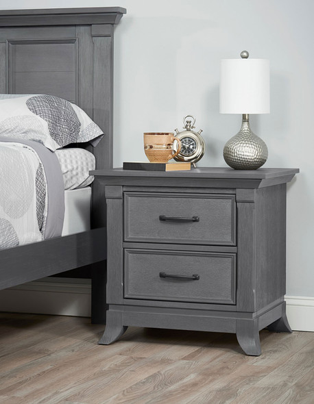 Oxford Baby Hamilton Collection Nightstand in Marble Gray