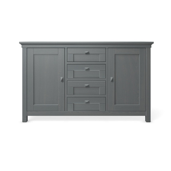 Romina Karisma Collection 4 Drawer Baby Station in Washed Grey