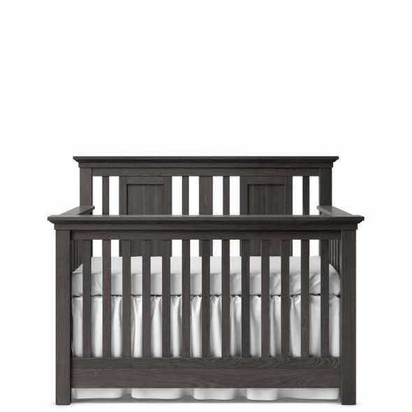 Romina Karisma Collection Convertible Crib with Slatted Panel in Oil Grey
