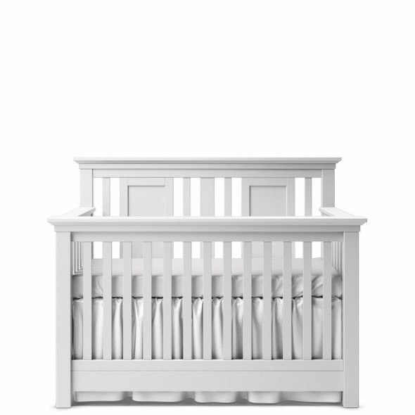 Romina Karisma Collection Convertible Crib with Slatted Panel in Solid White