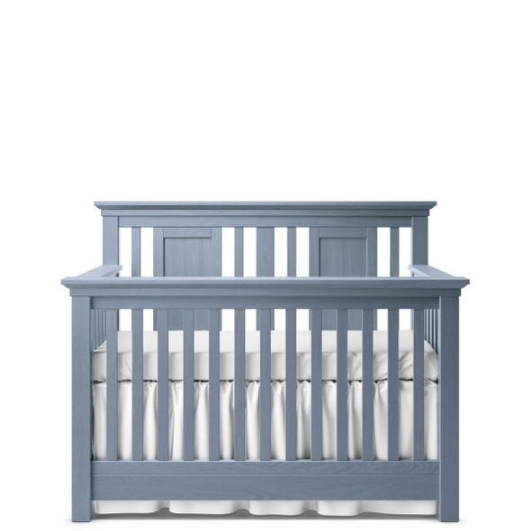 Romina Karisma Collection Convertible Crib with Slatted Panel in Storm