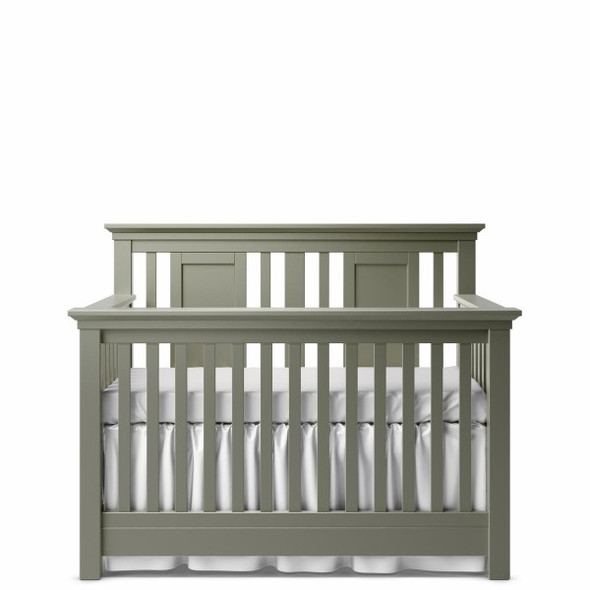 Romina Karisma Collection Convertible Crib with Slatted Panel in Vintage Grey