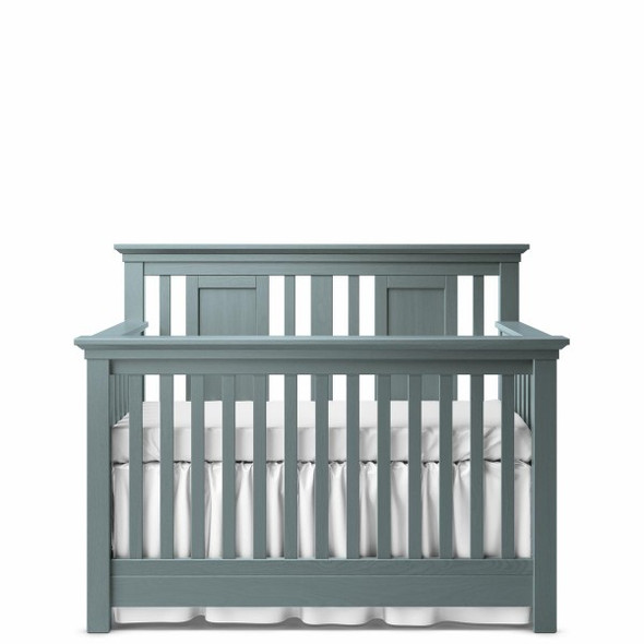 Romina Karisma Collection Convertible Crib with Slatted Panel in Washed Grey