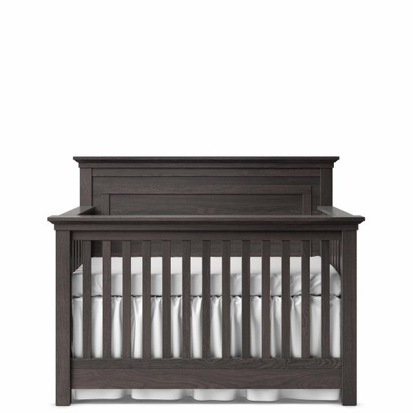 Romina Karisma Collection Convertible Crib with Full Panel in Oil Grey