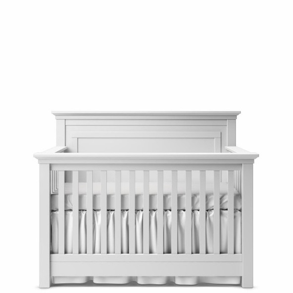 Romina Karisma Collection Convertible Crib with Full Panel in Solid White