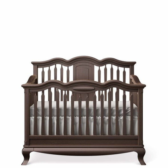Romina Cleopatra Collection Convertible Crib w/ Slatted Headboard in Bruno Rosso