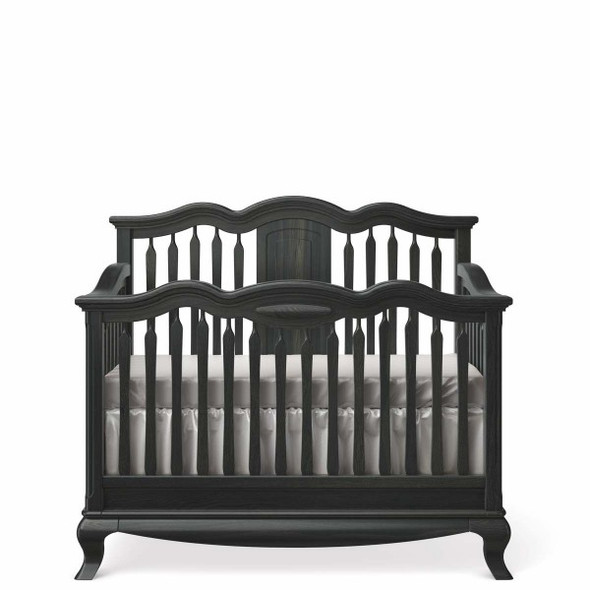 Romina Cleopatra Collection Convertible Crib w/ Slatted Headboard in Espresso