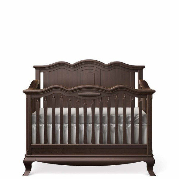 Romina Cleopatra Collection Crib w/ Solid Panel Headboard in Bruno Rosso