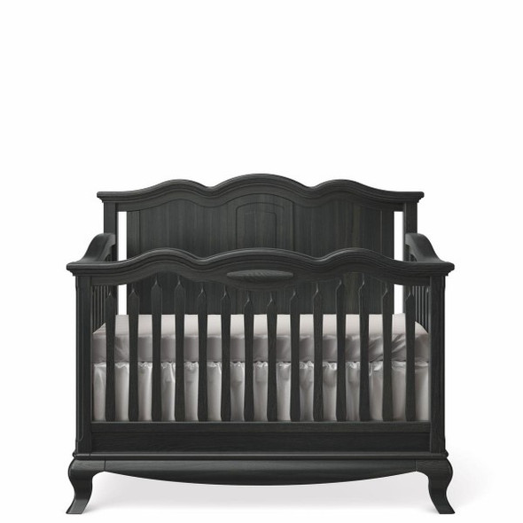Romina Cleopatra Collection Crib w/ Solid Panel Headboard in Espresso