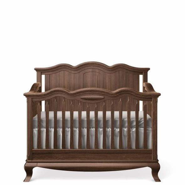 Romina Cleopatra Collection Crib w/ Solid Panel Headboard in Nocello