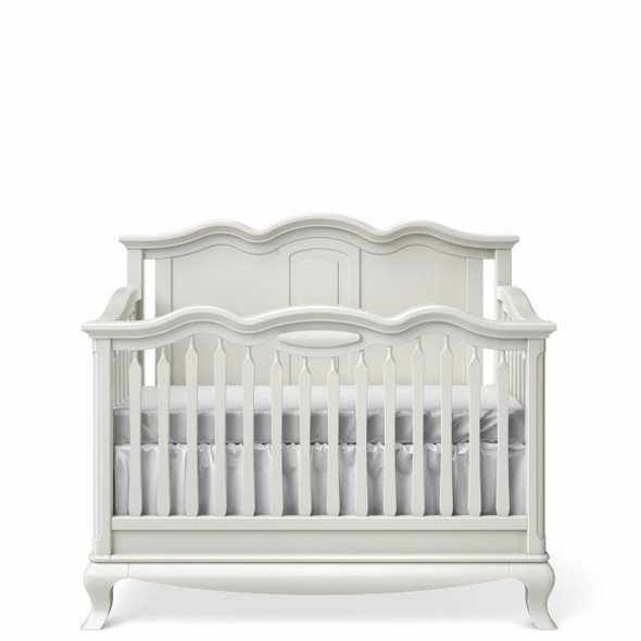 Romina Cleopatra Collection Crib w/ Solid Panel Headboard in Solid White