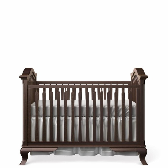 Romina Cleopatra Collection Classic Crib in Bruno Rosso