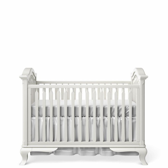 Romina Cleopatra Collection Classic Crib in Solid White