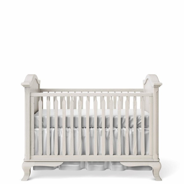 Romina Cleopatra Collection Classic Crib in Washed White