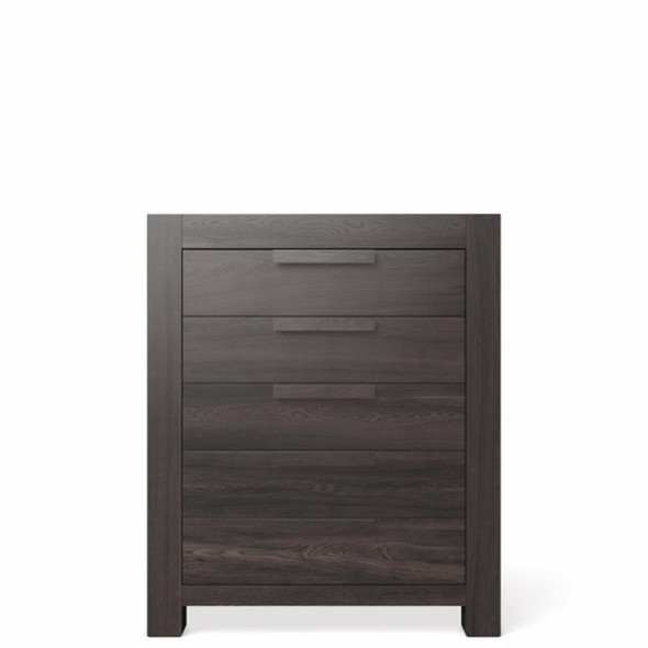 Romina Ventianni Collection Five Drawer Chest in Oil Grey