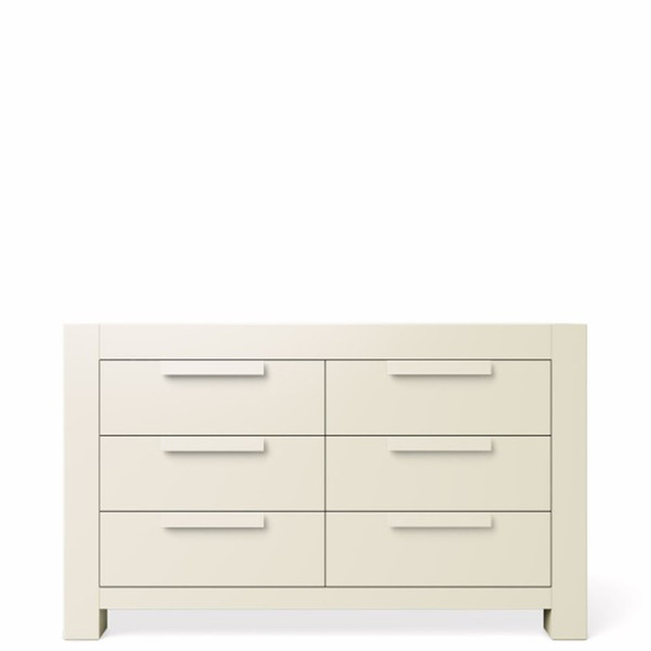 Romina Ventianni Collection Six Drawers Chest in Bianco Satinato