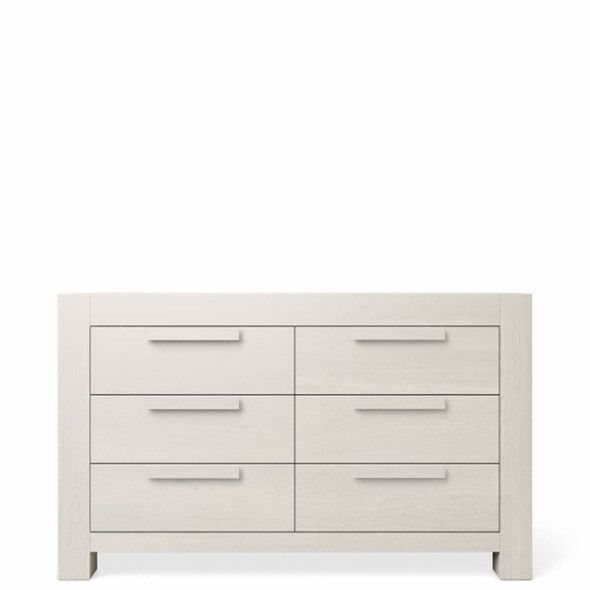 Romina Ventianni Collection Six Drawers Chest in Washed White