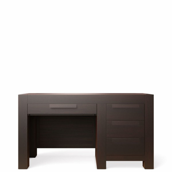 Romina Ventianni Collection Four Drawers Desk in Bruno Rosso