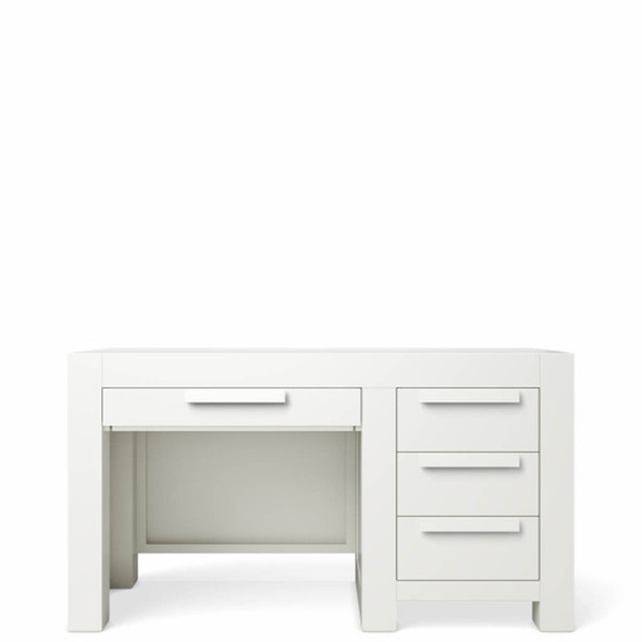 Romina Ventianni Collection Four Drawers Desk in Solid White