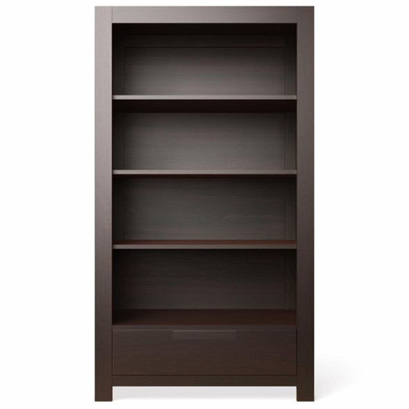 Romina Ventianni Collection One Drawer Bookcase in Bruno Rosso