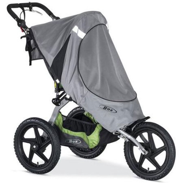 BOB Sun Shield for 2016 Fixed Wheel Single Strollers in Gray
