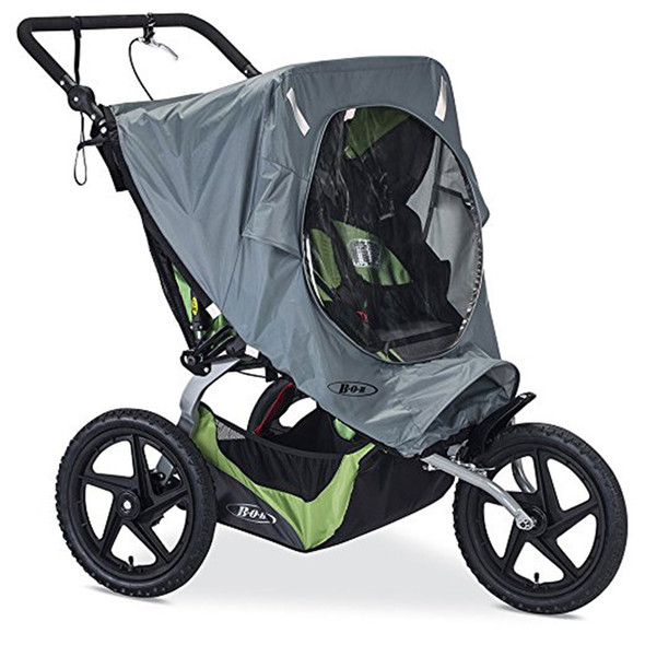 BOB Weather Shield for 2016 Fixed Wheel Duallie Strollers in Gray