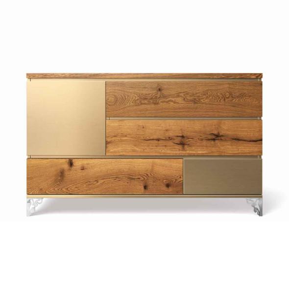 Romina Pandora Collection Double Dresser in Metalic