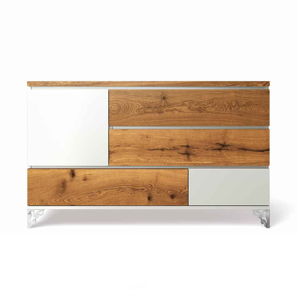 Romina Pandora Collection Double Dresser in Solid White