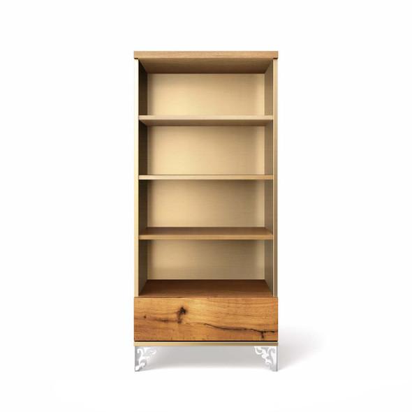 Romina Pandora Collection Bookcase in Metalic