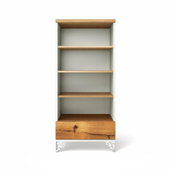 Romina Pandora Collection Bookcase in Solid White