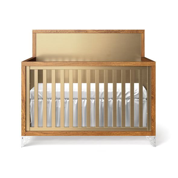 Romina Pandora Collection Convertible Crib in Metalic