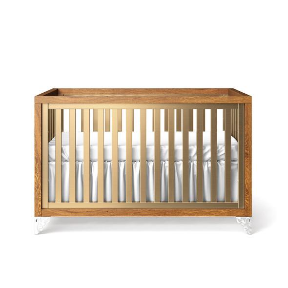 Romina Pandora Collection Classic Crib/Convertible Crib in Metalic
