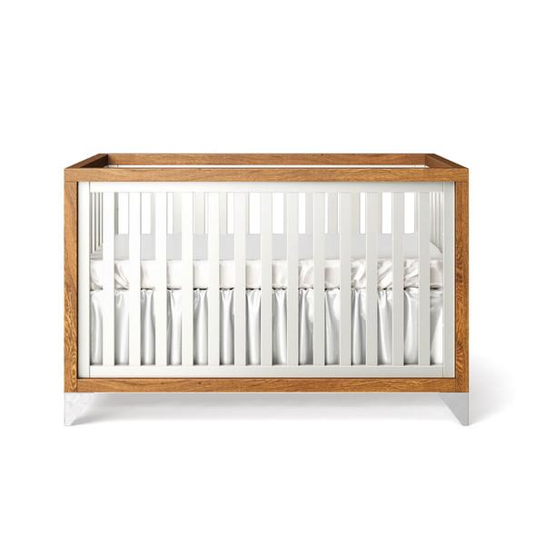 Romina Pandora Collection Classic Crib/Convertible Crib in Solid White