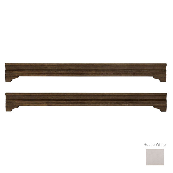 Stella Baby and Child Kerrigan Collection Platform Bed Rails in Rustic White