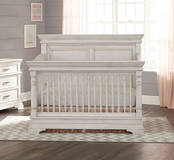 Stella Baby and Child Kerrigan Collection Crib  in Rustic White