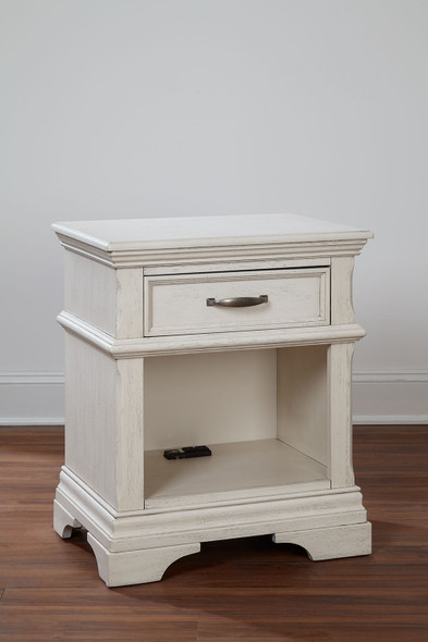 Stella Baby and Child Kerrigan Collection 1 Drawer NS W/power in Rustic White