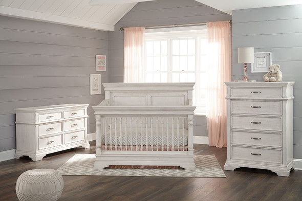 Stella Baby and Child Kerrigan 3 Piece Nursery Set in Rustic White