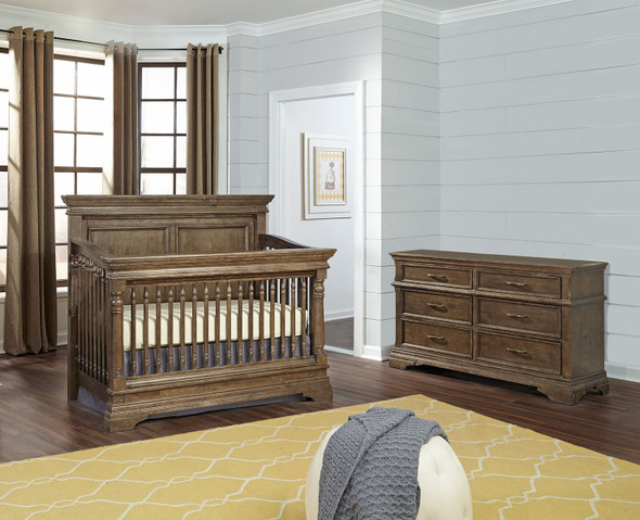 Stella Baby and Child Kerrigan 2 Piece Nursery Set in Caf-1
