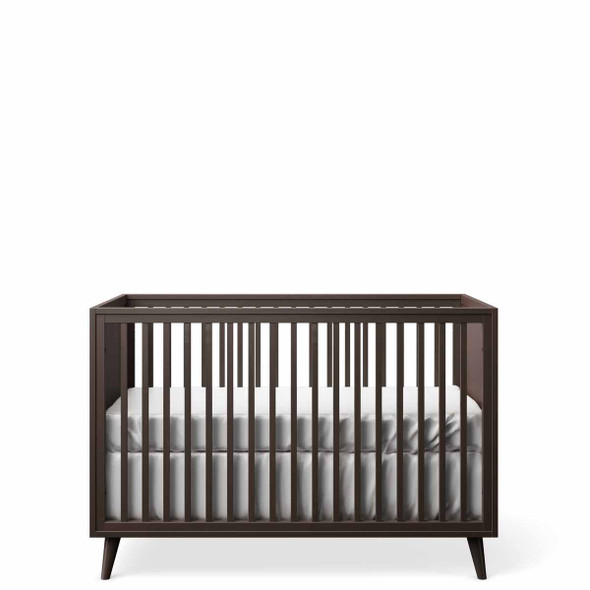 Romina New York Stationary Crib in Bruno Rosso