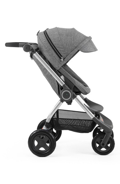 Stokke Scoot Stroller Complete. Chassis, Seat And Canopy in Black Melange