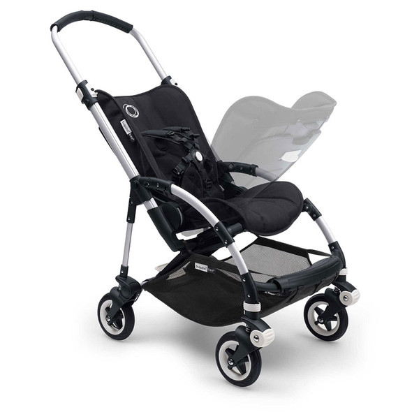 Bugaboo Bee5 Complete Stroller Black Frame and Grey Melange/Sunrise Yellow