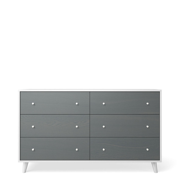 Romina New York 6 Drawers Chest in Washed Grey