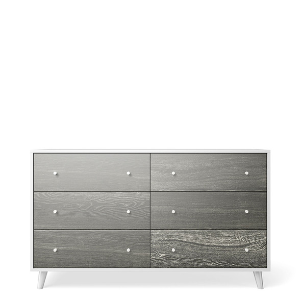 Romina New York 6 Drawers Chest in Silver Frost