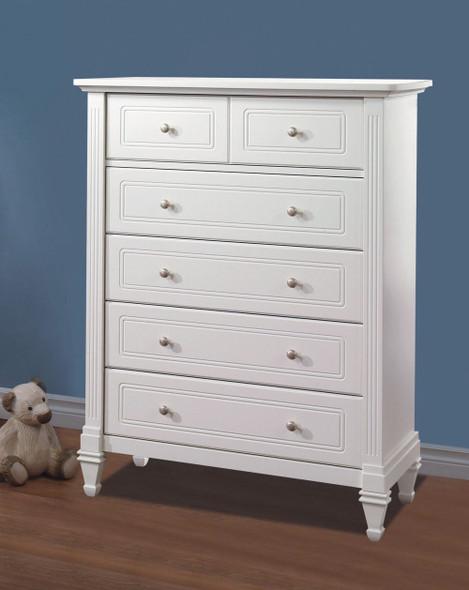 Natart Belmont 5 Drawer Dresser in Pure White