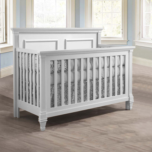 Natart Belmont Convertible Crib in Pure White