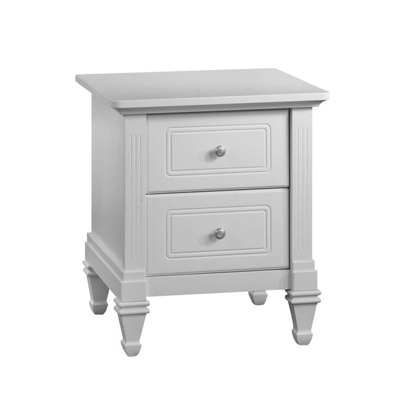 Natart Belmont Nightstand in Pure White